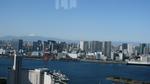 フジテレビ球体展望室からの富士山